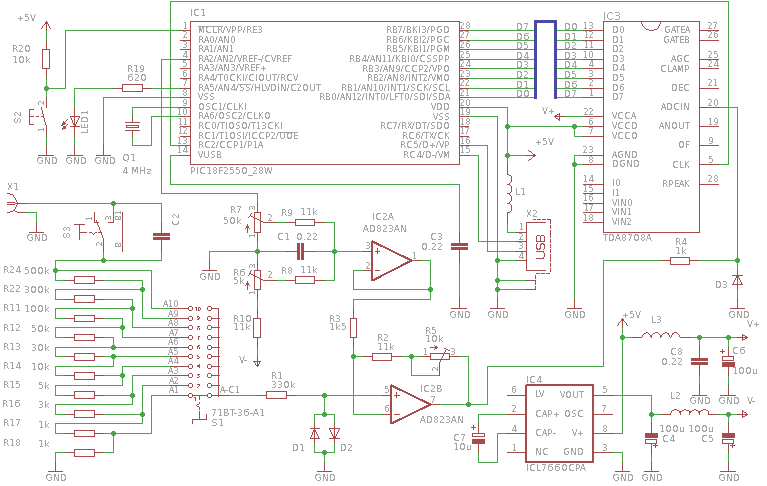 Схема USB осциллографа