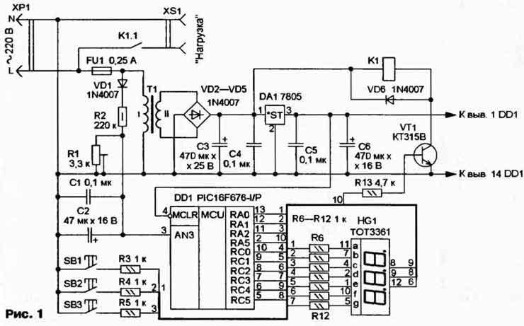 Предлагаемое устройство отключает чувствительную к изменениям питающего напряжения аппаратуру от сети в случае его...