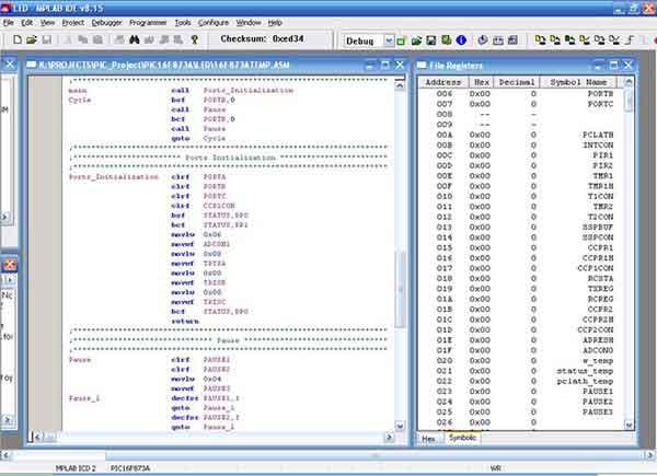 Programmer -> MPLAB ICD 2.