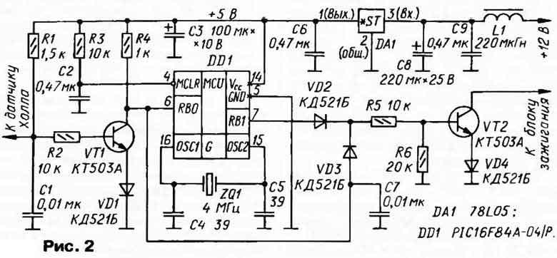 VD3 включены по схеме