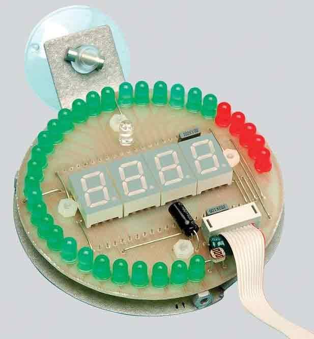 Цифровой тахометр с круговой и