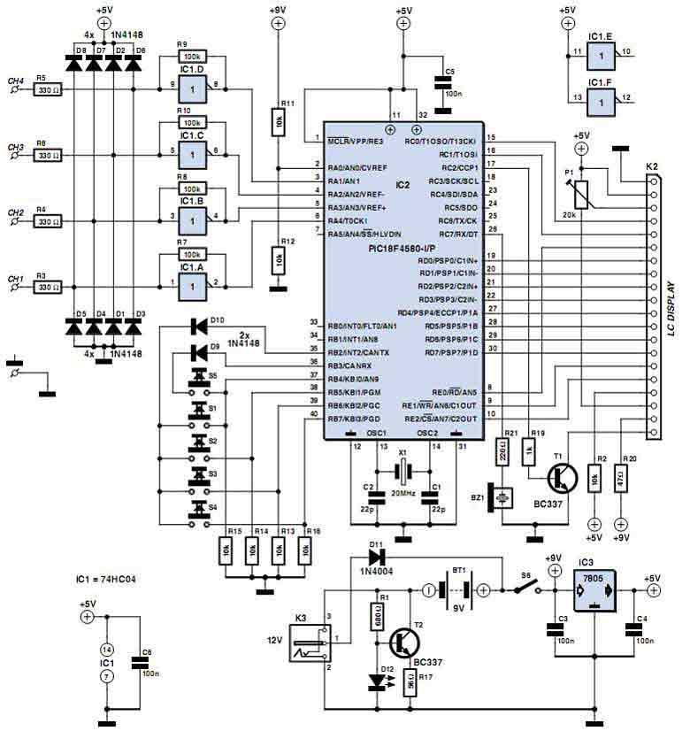 4-канальный логический анализатор на PIC микроконтроллере