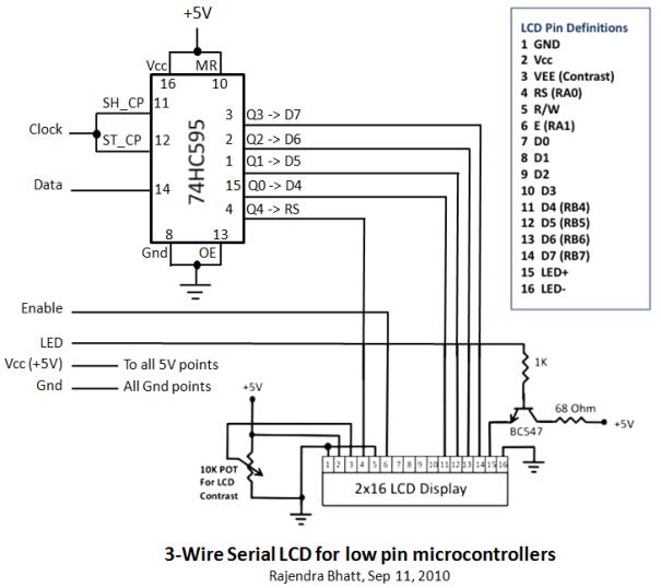 Подключение LCD HD44780 к