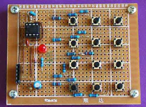 Макетная плата: интерфейс клавиатуры на таймере 555