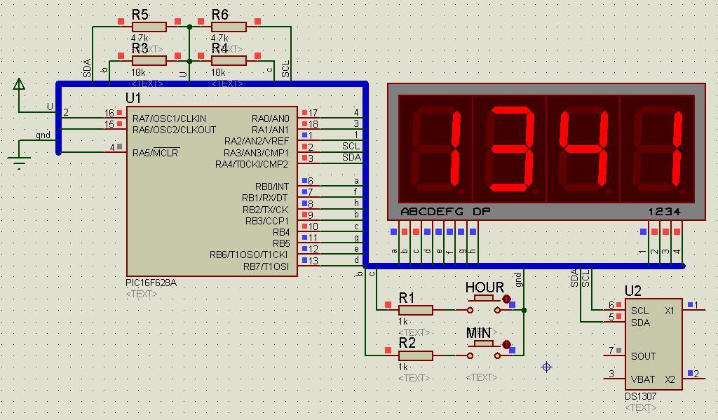 Часы — будильник — термометр на pic16f схема и описание.